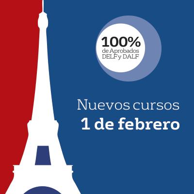 Cursos nuevos de francés, desde el 1 de febrero