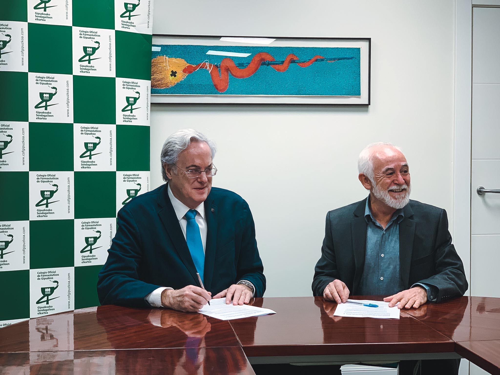 Lacunza Donostia colegio oficial farmaceuticos acuerdo